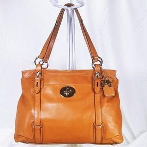 Coach Tan Saddle Leather Handbag